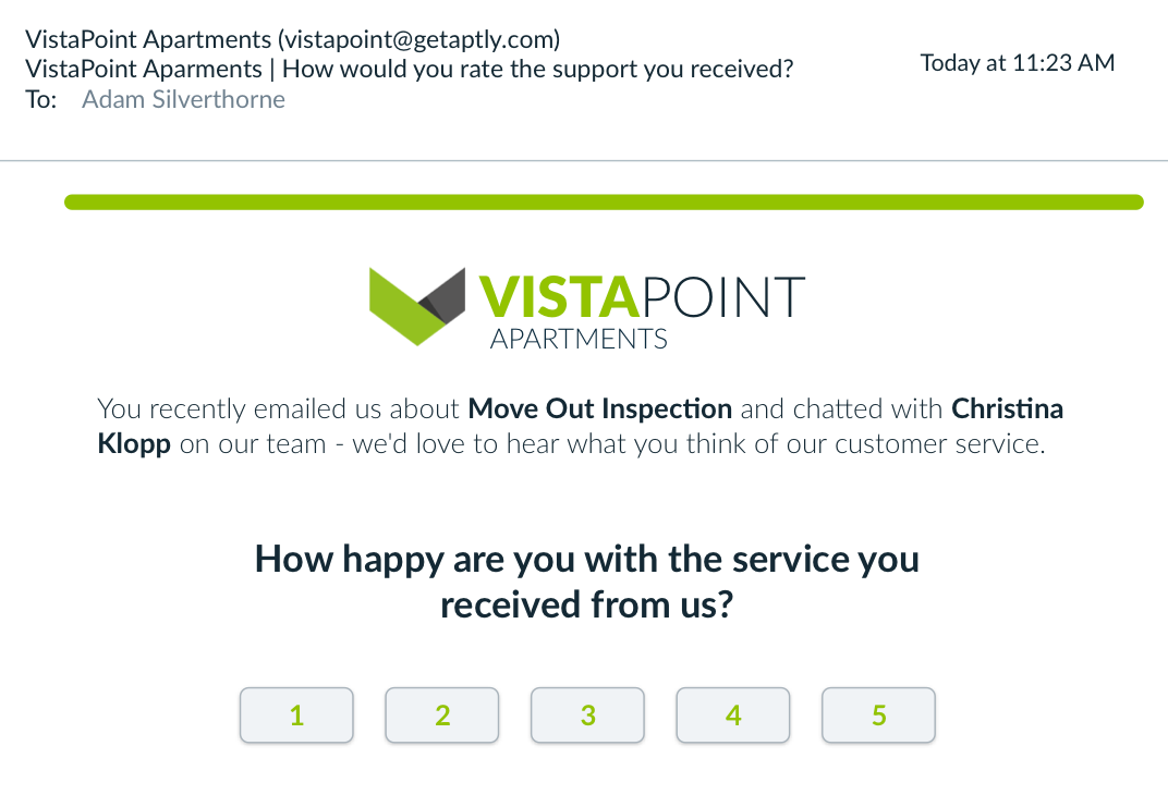 Automatically Measure Resident Satisfaction with CSAT Surveys